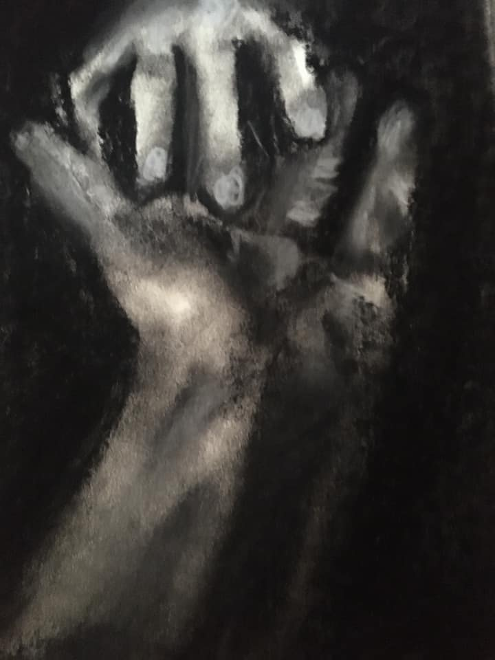 5 Touch, 2020 8.5 by 11 inches, Charcoal